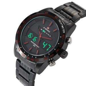 NAVIFORCE 9024 Luminous Tachymeter Analog Digital Watch -