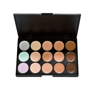 15 Colours Cream Concealer Palette with Foundation Brush -