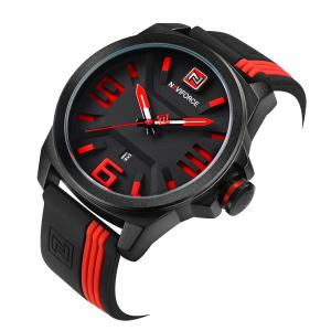 NAVIFORCE 9098 Silicone Strap Luminous Date Quartz Watch -
