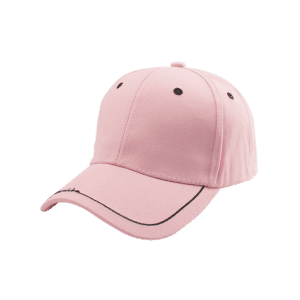 Line Letters Embroidery Baseball Hat - PINK