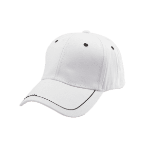 Line Letters Embroidery Baseball Hat - WHITE