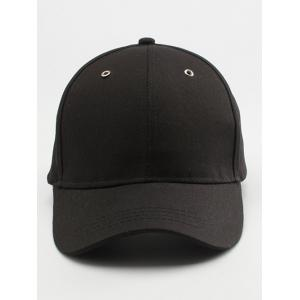 Letters Embroidered Long Tail Baseball Cap - BLACK