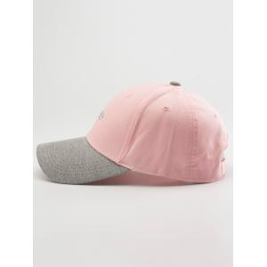 Letters Embroidered Two Tone Baseball Cap - LIGHT PINK