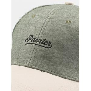 Letters Embroidered Two Tone Baseball Cap - GREEN