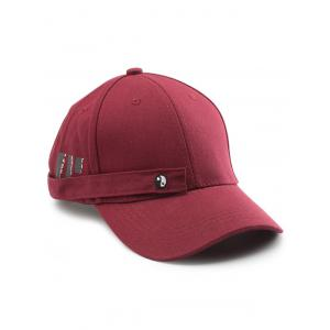 Tiny Eight Diagrams Rectangle Embellished Baseball Cap - Wine Red - W16 Inch * L47 Inch