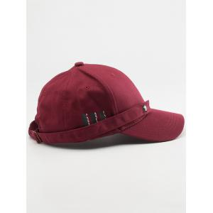 Tiny Eight Diagrams Rectangle Embellished Baseball Cap - WINE RED