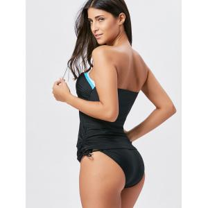 Two Piece Bandeau Push Up Swimsuit - BLACK M