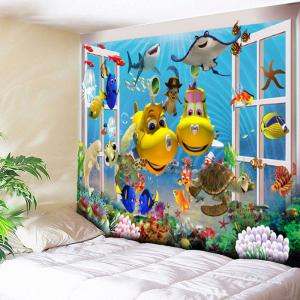 Sea World Animal Print Wall Tapestry