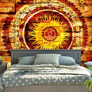 bedroom tapestry.  Mandala Brick Wall Pattern Bedroom Tapestry Yellow W79 Inch L59