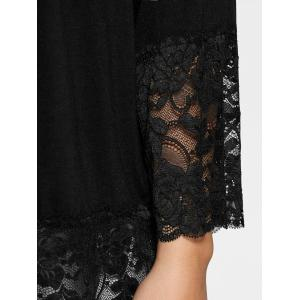 Lace Trim Off The Shoulder Plus Size Top - Noir 3XL