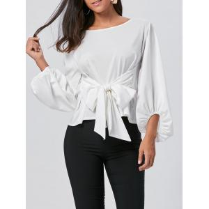 Belted Puff Sleeve Blouse
