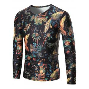 Phoenix Print Long Sleeve T-shirt