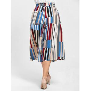 Geometric Print Plus Size Palazzo Capri Pants - MULTICOLOR 2XL