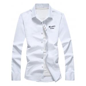 Long Sleeve Button Down Embroidery Shirt