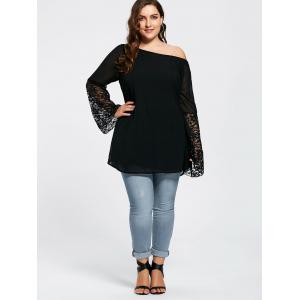 Top en tunique à embosser - Noir 2XL