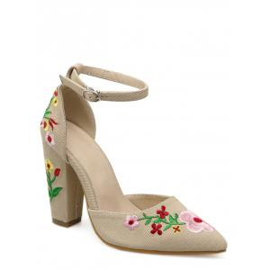 Two Piece Embroidery Pumps