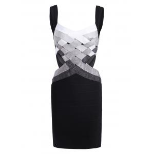 Bodycon Waist Cut Out Bandage Cage Dress
