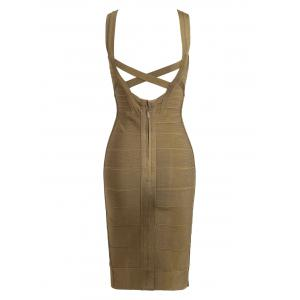 Criss Cross Back Bodycon Bandage Dress -