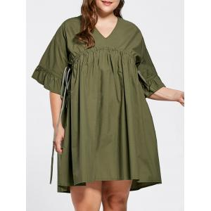 Flare Sleeve Plus Size Babydoll Dress