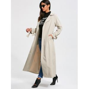 Belted Maxi Wrap Trench Coat -