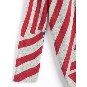American Flag Knit Patriotic Plus Size Sweater - Rouge TAILLE MOYENNE