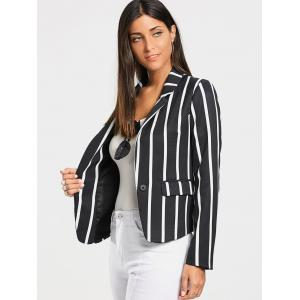 One Button Vertical Stripe Blazer -