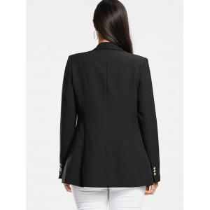 Double Breasted Plain Blazer -