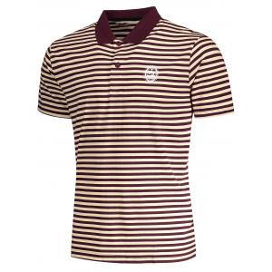 T-shirt Polo à Rayures pour Homme - Rayure L