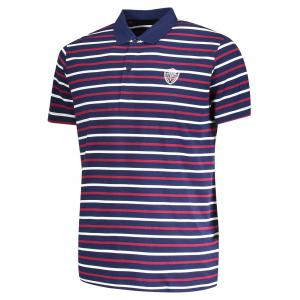 T-Shirt Polo à Rayures pour Homme -