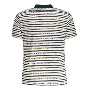 Striped Pocket Mens Polo Shirt -