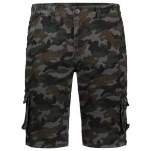 Pockets Camo Cargo Shorts