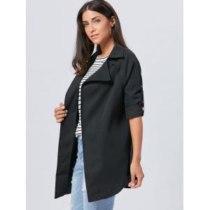 Lapel Long Wrap Coat -
