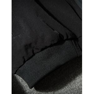 Cock Brodé Applique Zip Up Jacket - Noir 2XL