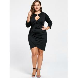 Plus Size Keyhole Neck Tulip Dress -