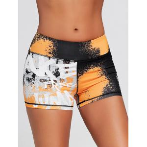 Tie Dye Hit Color Sports Tight Shorts -