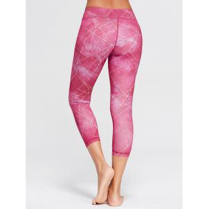 Capri Printed Workout Tights With Pocket -