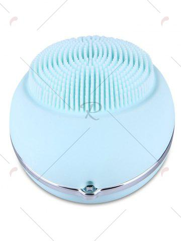 Affordable Deep Pore Skin Cleansing Silicone Face Massage Instrument - LIGHT BLUE  Mobile