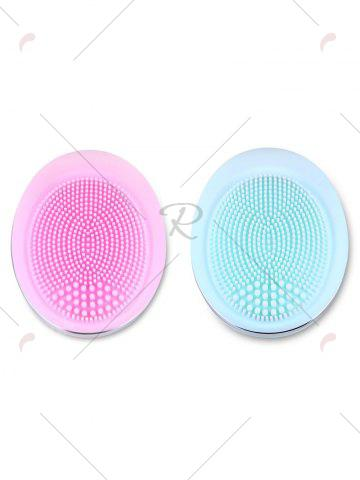 Trendy Deep Pore Skin Cleansing Silicone Face Massage Instrument - LIGHT BLUE  Mobile