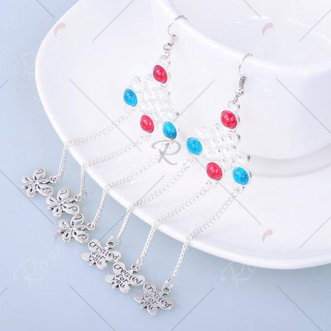 Shop Butterfly Pendant Chinese Knot Fish Hook Earrings - SILVER  Mobile