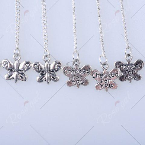 Outfit Butterfly Pendant Chinese Knot Fish Hook Earrings - SILVER  Mobile