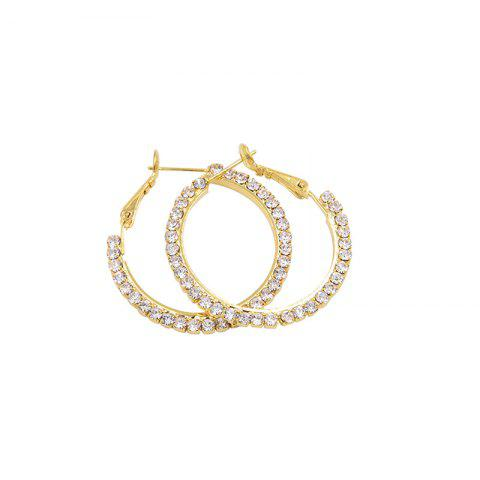 Affordable Rhinestones Hoop Earrings GOLDEN