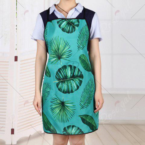 Unique Water Resistant Fabric Greenery Leaves Apron - 80*70CM GREEN Mobile