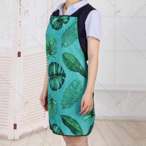 Fashion Water Resistant Fabric Greenery Leaves Apron - 80*70CM GREEN Mobile