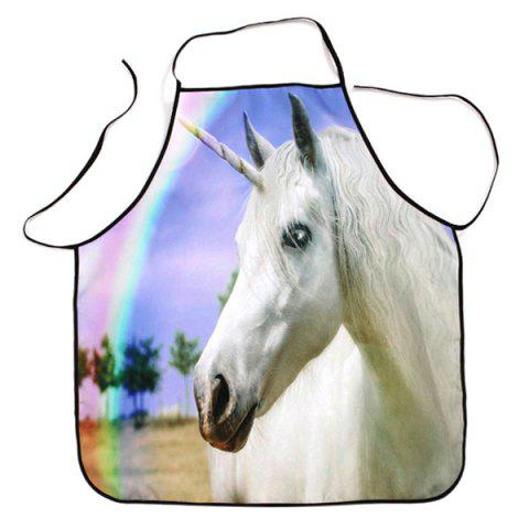 Cooking Baking Rainbow Unicorn Print Apron - Colormix - 80*70cm