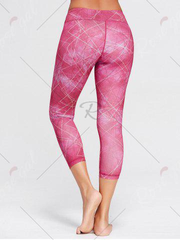 Affordable Capri Printed Workout Tights With Pocket - XL TUTTI FRUTTI Mobile