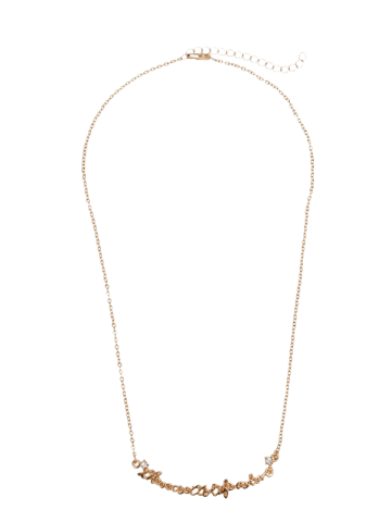 Buy Link Chain Nameplate Necklace - GOLDEN  Mobile