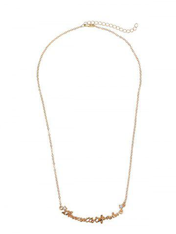 Chic Link Chain Nameplate Necklace - GOLDEN  Mobile