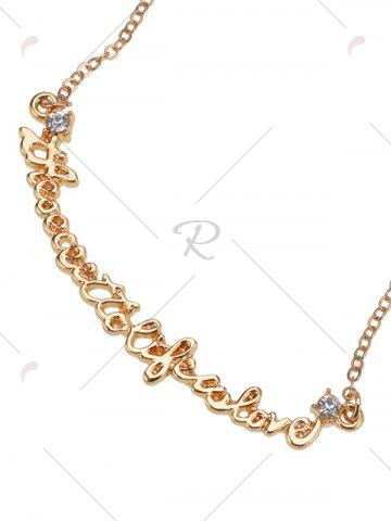 Unique Link Chain Nameplate Necklace - GOLDEN  Mobile