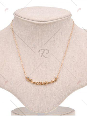 Trendy Link Chain Nameplate Necklace - GOLDEN  Mobile