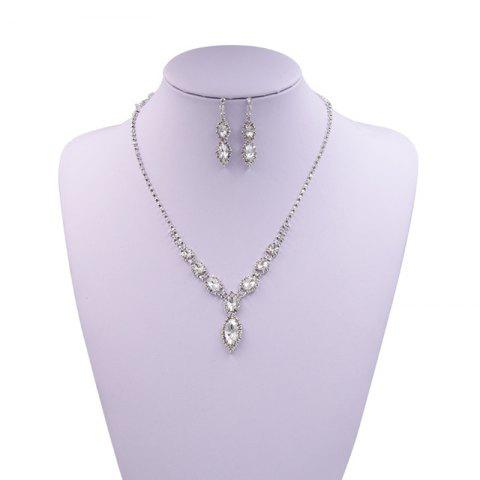 Unique Rhinestone Infinity Necklace and Earrings